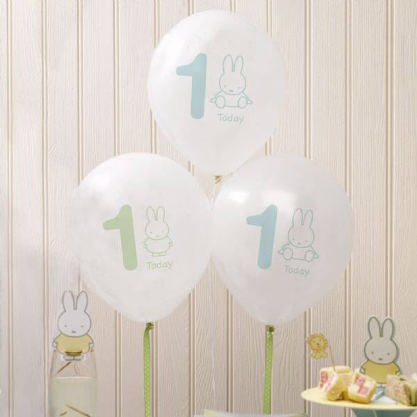 Baby Miffy 1st Birthday Balloons (8)